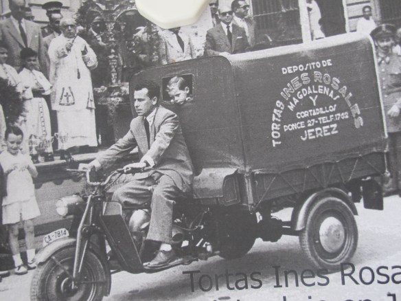 Delivery Ines Rosales tortas in the the early days. The transport has changed, but the recipe's still the same.