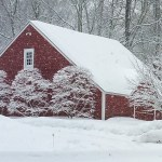 Weekly Photo Challeng - Seasons Red Barn in the snow