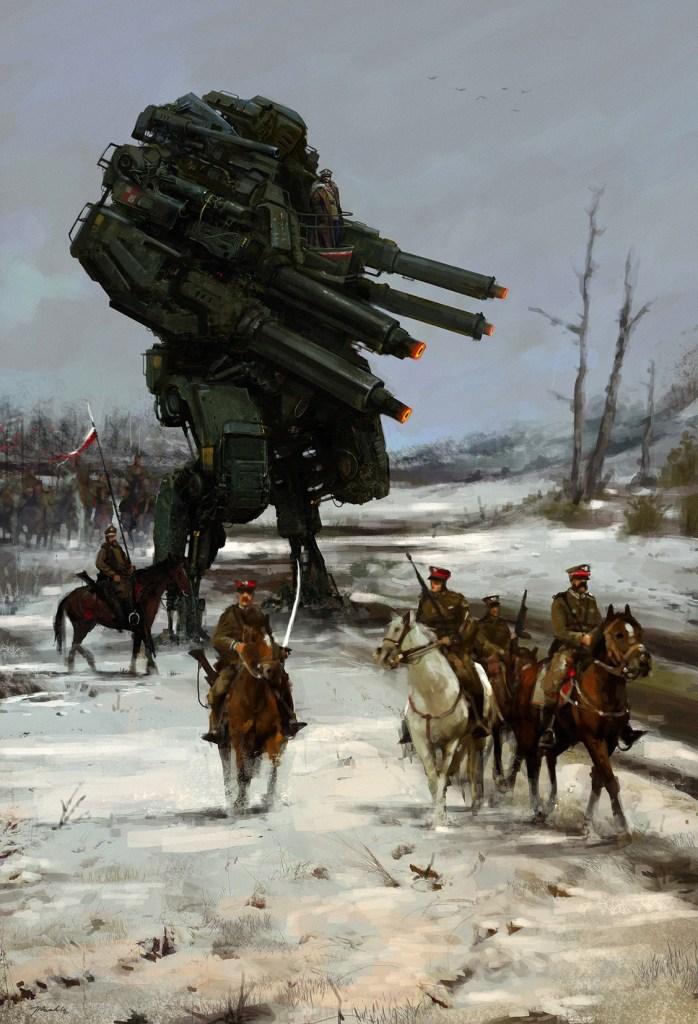 jakub rozalski warlord 1920 698x1024 1920   Warlord Seigneurs de Guerre de Jakub Rozalski