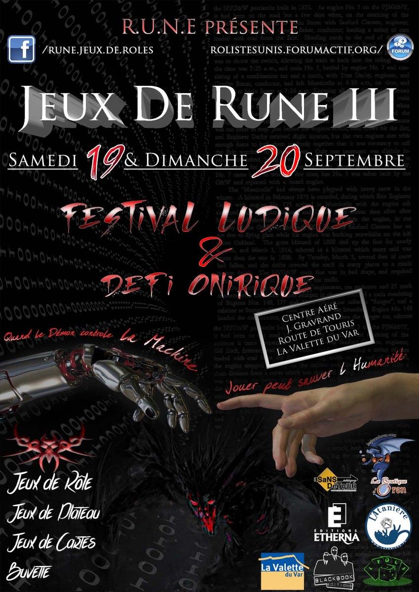 3ème Edition du Festival JDR - Jeux De Rune 2015