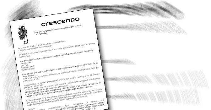 Téléchargez et jouez à Crescendo jeu de rôle en moins de 250 mots