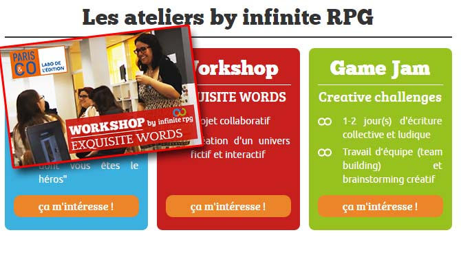 Sondage Ateliers : Infinite RPG attend vos retours et suggestions