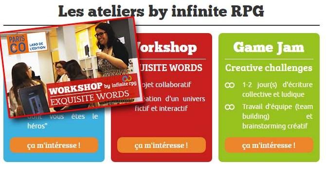 Sondage Ateliers : Infinite RPG attend vos retours et suggestions