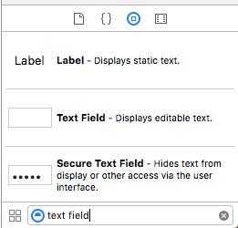 Object Library: search for text field