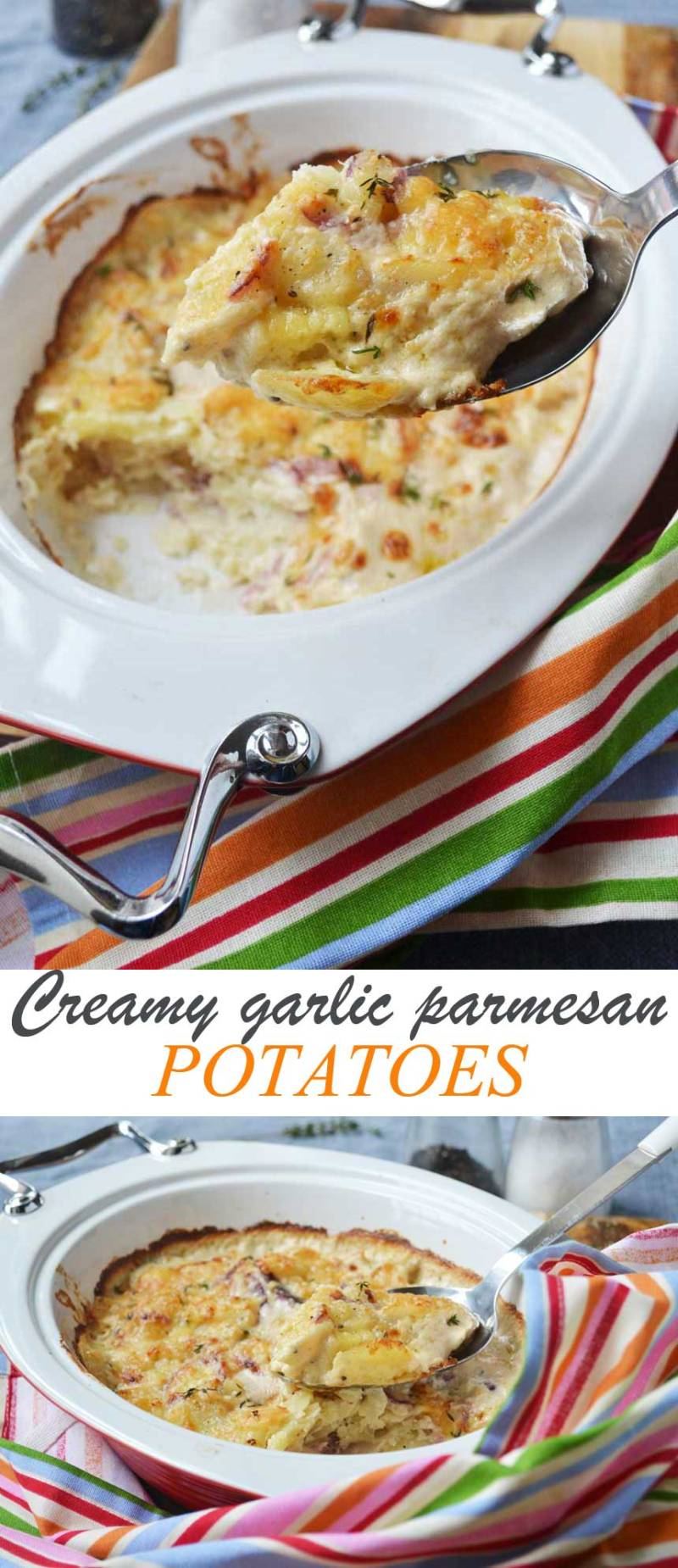 Large Of Garlic Parmesan Potatoes