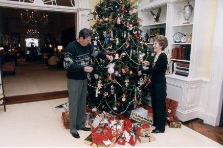 white house christmas reagans