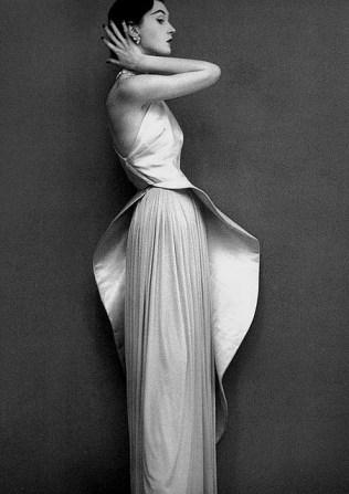 madame gres vintage fashion black white