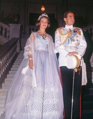 King Constantine of Greece and Princess Anne Marie of Denmark royal weddings