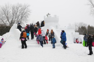 Château fort en neige