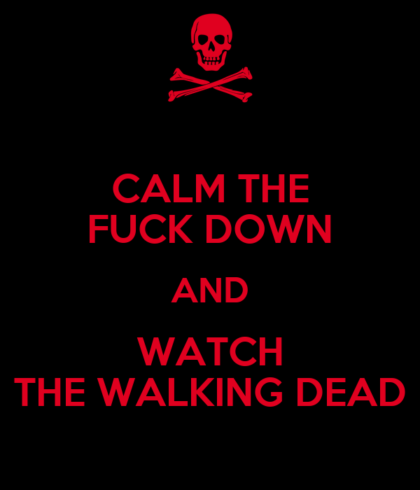 calm the fuck down and watch the walking dead keep calm and Watch The Walking Dead Season 1 – 4 Online 600x700