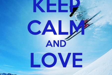 keep calm and love ski 246