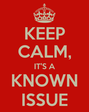 keep calm it's a known issue