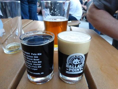 Ballast Point tasters.