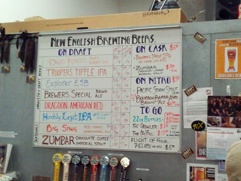 New English Tap List 11/7/13