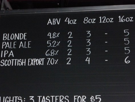 Core beers on tap.