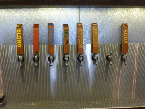 Benchmark brewing taps.