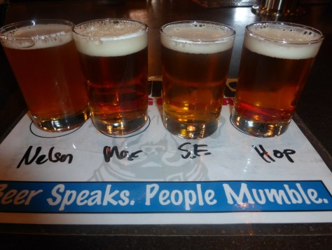 Taster Flight, A knockout punch of hops.