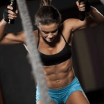crossfit outdoor gym battle ropes