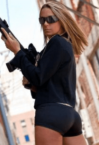 ar15 hot girl black