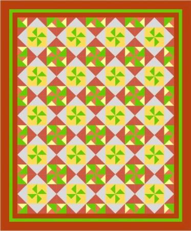 """Pinwheels Galore Quilt 58"""" x 70"""""""