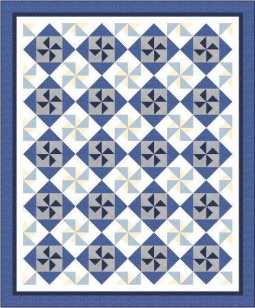 blue and gray quilt