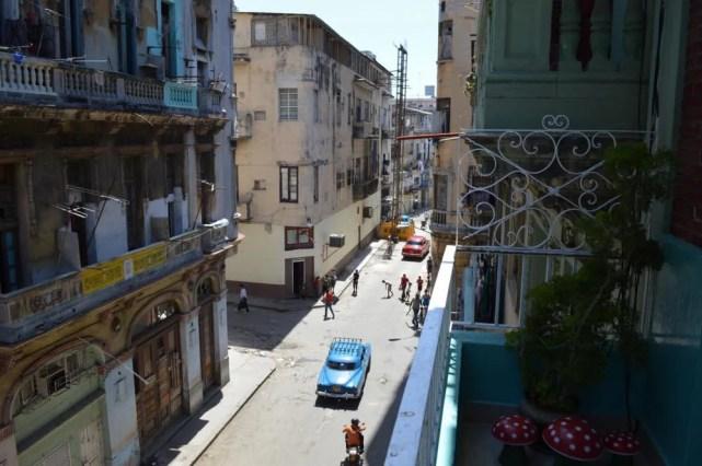 ハバナのカサ(民宿)からの眺め 【キューバ Cuba】