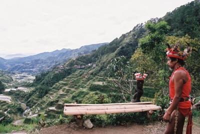 フィリピン、バナウェ。イフガオ族、バナウェビューポイント 【世界遺産】