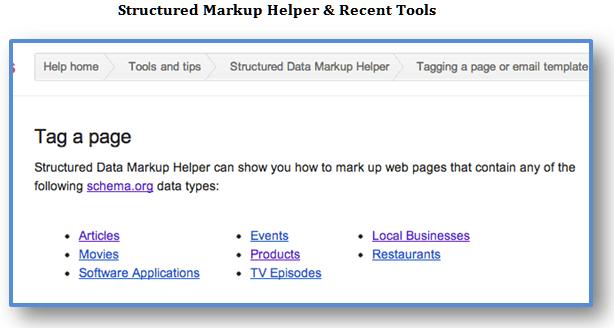 structured markup helper recent tools