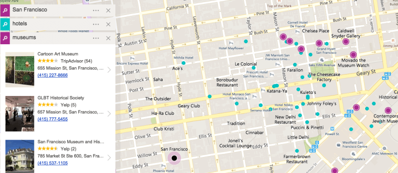 Bing Maps layers