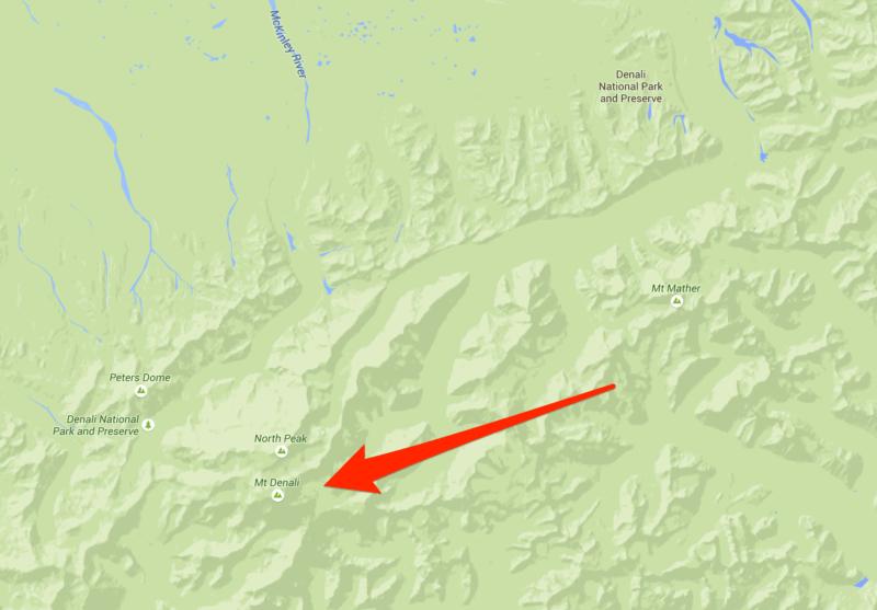 Google Maps Denali