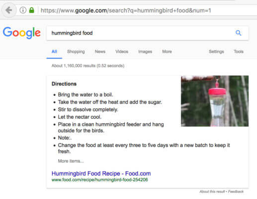 Google Featured Snippet Candidate