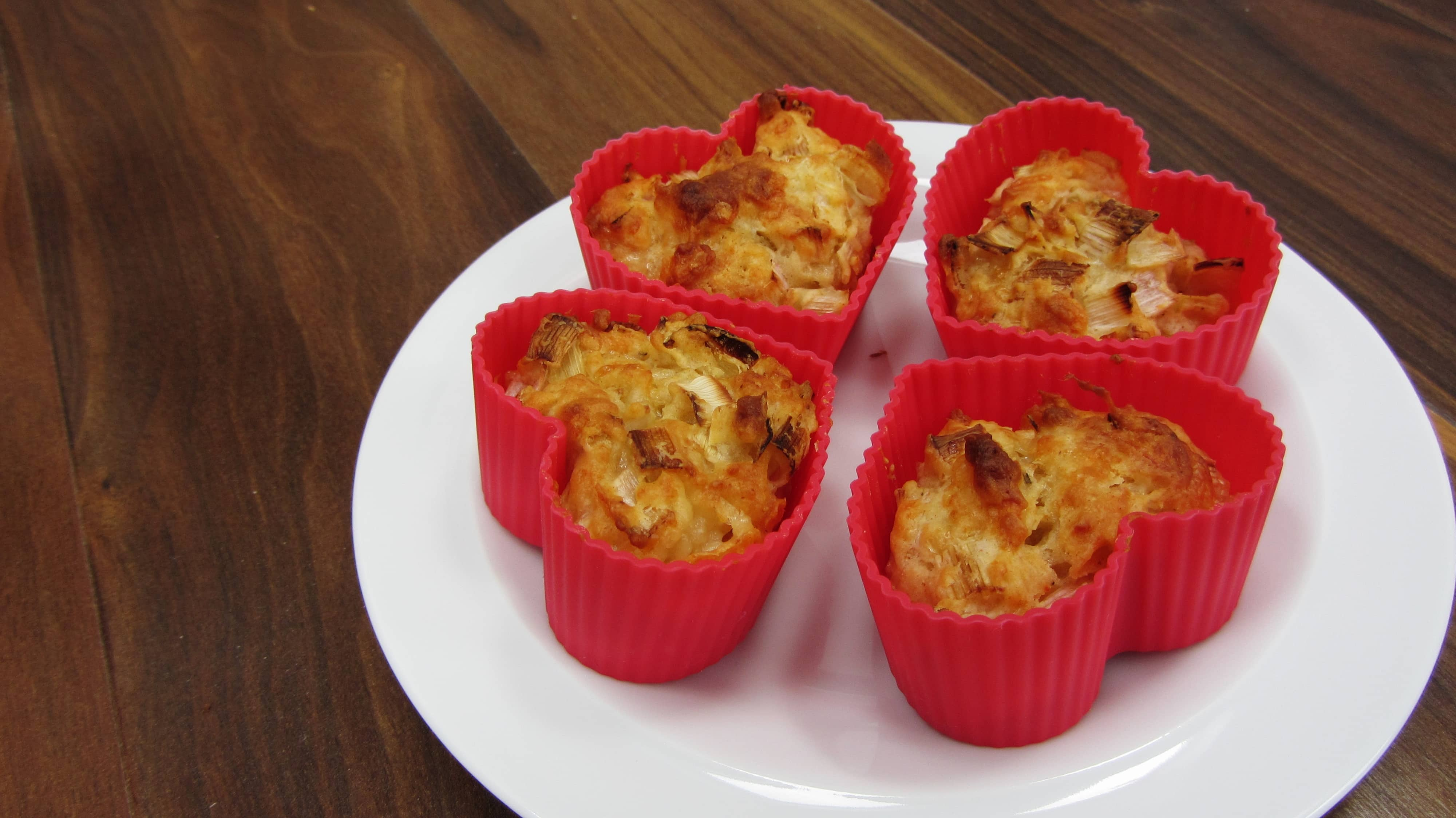 Cheddar and Leek Muffins - Searching for Spice