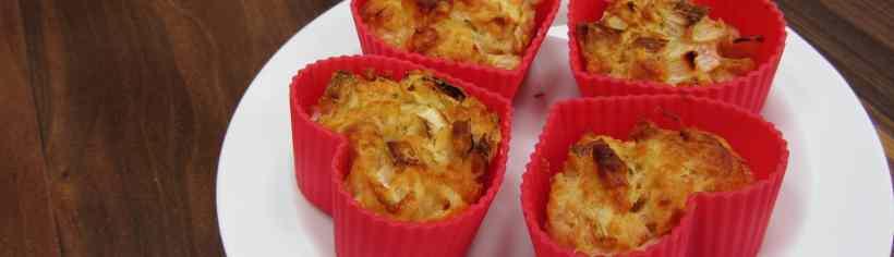 leek and cheddar muffins