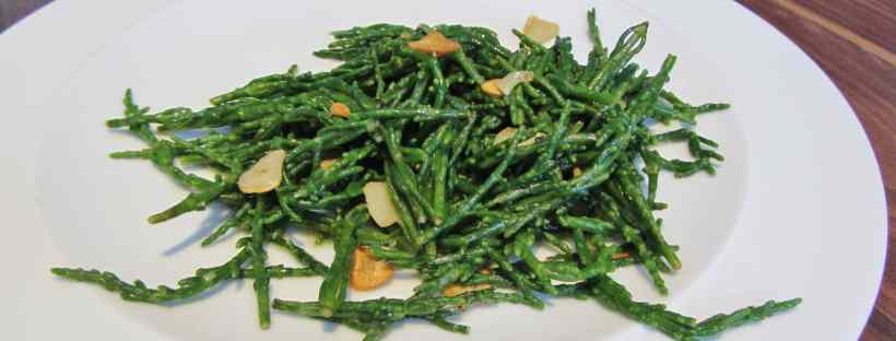 Samphire with garlic and lemon butter