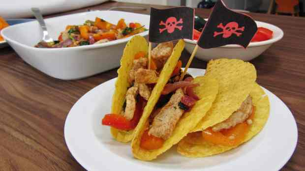 Turkey Pirate Ship Tacos