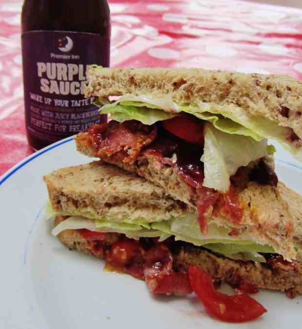 Premier Inn Purple Sauce and a BLT