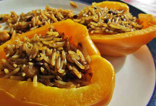 Merchant Gourment Indian Flavoured grains in a stuffed pepper