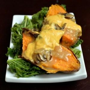 poutine style sweet potato