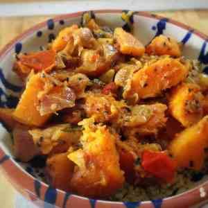 butternut squash vegetable bhaji