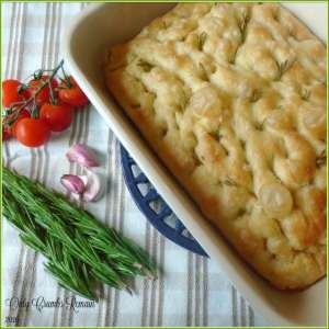 No Knead Rosemary and Garlic Focaccia #CookOnceEatTwice