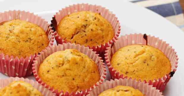 Chocolate chia seed muffins