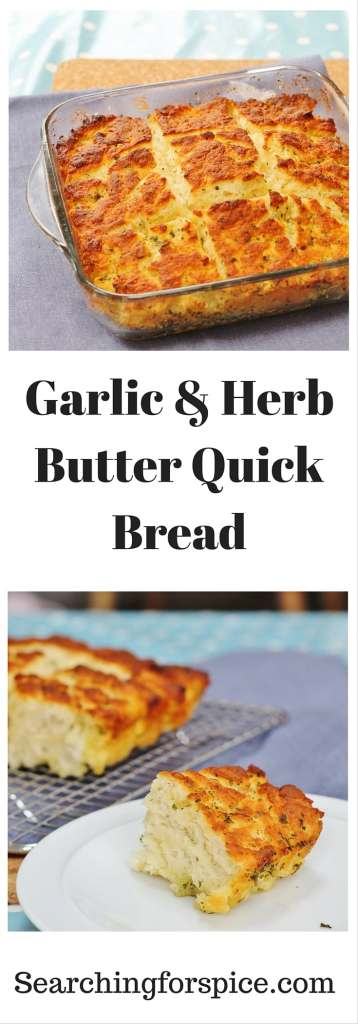 Garlic and herb butter quick bread