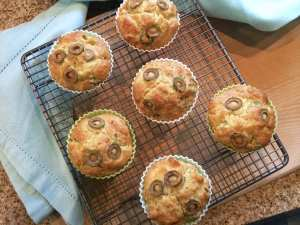 cheese and olive muffins