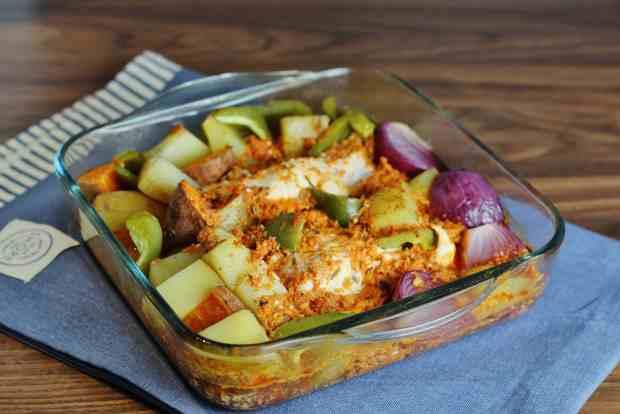 chicken chorizo bake 1