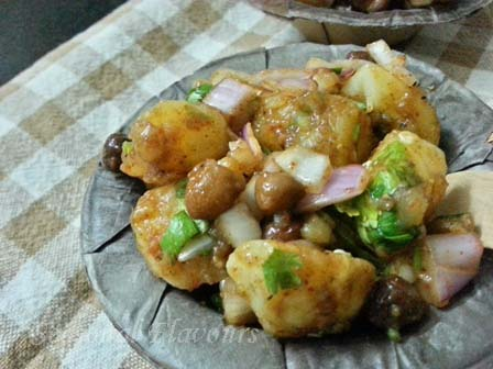 Alu Kabli Recipe | Kolkata Aloo Chana Chaat | Potato Chickpea Snack