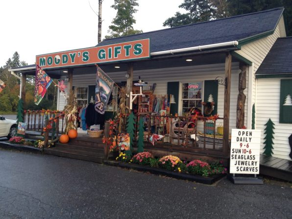 A additional building right next to Moody's diner that sells authentic Moody's Gifts.