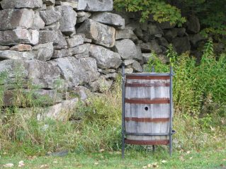 Barrell by the river in Washington Village