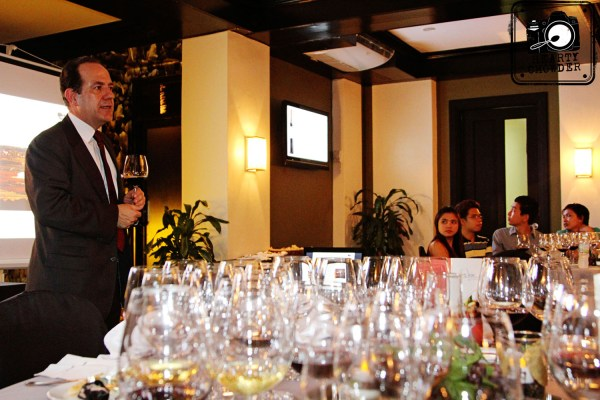 Wine tasting and pairing in partnership with Wine Depot with Mr. Jose Maria Castaneda of Vina Bujanda.
