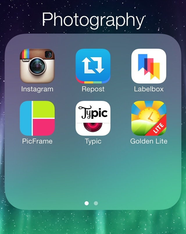 I like organizing my apps this way. :)
