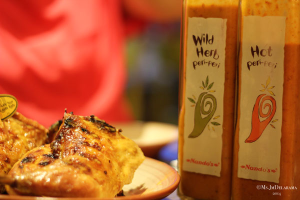 Nando's famous chicken and sauces